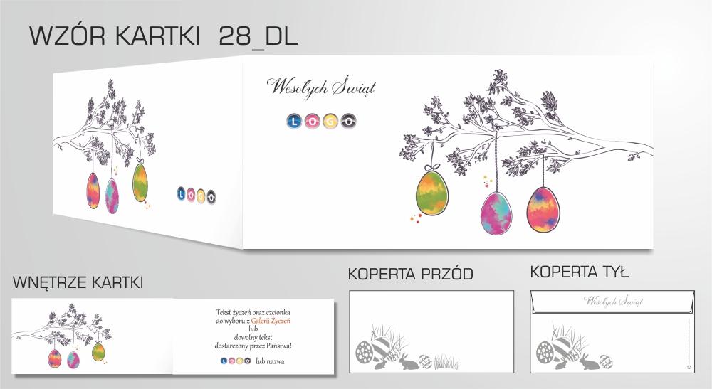 Kartki wielkanocne dla firm z logo