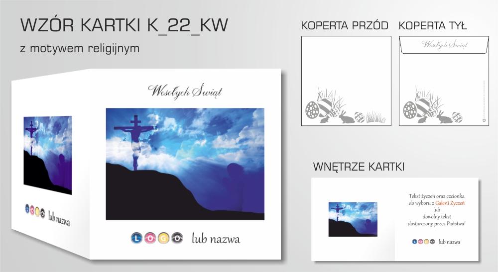 kartki wielkanocne firmowe z logo